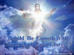 Rev Look! He comes with the clouds of heaven. And everyone will see Him—even those who pierced Him. And all the nations of the world will mourn for Him. Jesus Our Savior, My Redeemer Lives, Worship The Lord, Divine Mercy, Secret Places, Beautiful Songs, Holy Spirit, Bible Verses, Scriptures