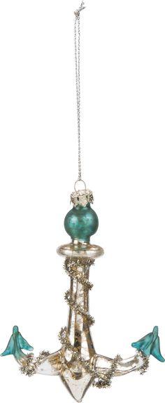 Glass-anchor-ornament At Seasideinspired.com Beach Ocean Home Decor