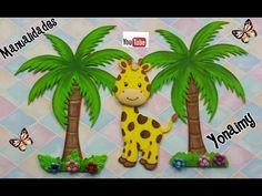 JIRAFITA HECHA CON FOAMY O GOMA EVA PARA REALIZAR UN SAFARI - YouTube