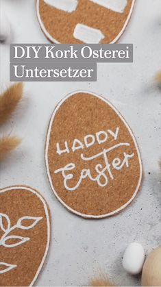 Cork Crafts, Diy And Crafts, Diy Ostern, Cool Diy Projects, Table Centerpieces, Easter Crafts, Diy Gifts, Easter Eggs, Bones