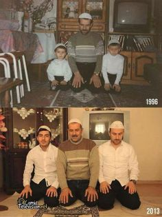 Mash'Allah .. A family that prays together, stays together.