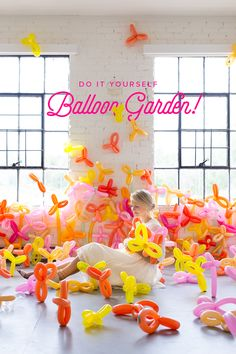 A balloon garden for all you gardeners of fun! #diy #craft