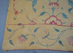 Persian embroidered coverlet, 19th C design of flo