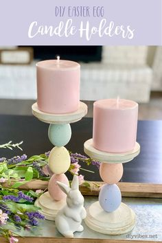 Learn how to make DIY candle holders out of plastic Easter eggs. With only a few materials, these DIY Easter egg candle holders will add to your decor. Diy Candle Holders, Diy Candles, Beeswax Candles, Egg Crafts, Easter Crafts, Easter Ideas, Diy Osterschmuck, Easter Tree Decorations, Plastic Easter Eggs