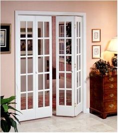 interior folding glass doors | Interior Decorative and Glass Bifold Doors - Easy to Install Privacy ...