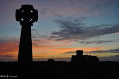Sunset at St Materiana's church, Tintagel, Cornwall