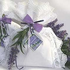 Lavender sachet with lace
