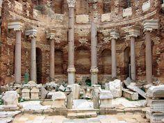 Severan Basilica, Leptis Magna, Libya. I really want to visit!