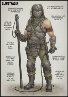 Slave Trader by jflaxman on DeviantArt Apocalypse World, Apocalypse Survival, Zombie Apocalypse, Cyberpunk, Apocalypse Character, Post Apocalyptic Art, Chandler Riggs, Wilderness Survival, Survival Tips
