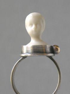 Procelain Ghost Boy Ring by Tessa E. Rickard