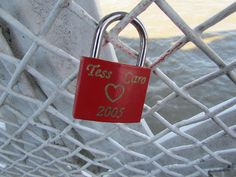 Love lock on Tower Bridge by Ali_Haikugirl, via Flickr