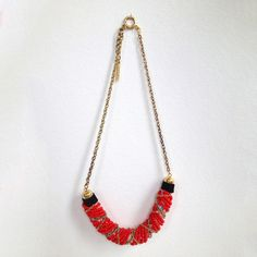 Fab.com   Wrapped Necklace Coral