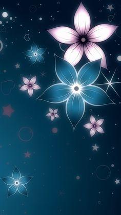 Digital Flowers iPhone 5 Wallpaper.