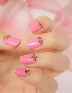 pink  nail art 9 - 65 lovely Pink Nail Art Ideas  <3 <3