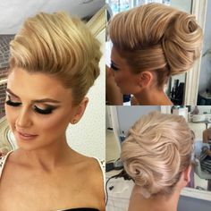 """Blessed to have the most beautiful clients. Elegant up do for this…"
