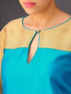 Looking for beautiful neck designs for plain Kurtis/Kurthas ? Here are 20 flattering designs that can add a dash of style to your kurti style. Chudidhar Neck Designs, Salwar Neck Designs, Churidar Designs, Neck Designs For Suits, Kurta Neck Design, Neckline Designs, Dress Neck Designs, Kurta Designs Women, Saree Blouse Designs