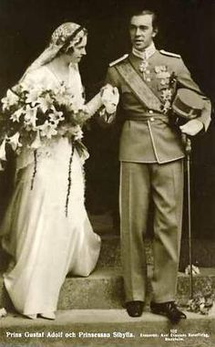 Heirat Prinz Gustaf Adolf von Schweden mit Prinzessin Siblylle von Coburg-gotha