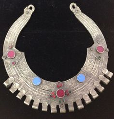 African Torque Tribal Necklace Silver by WorldofBacara on Etsy $100.00