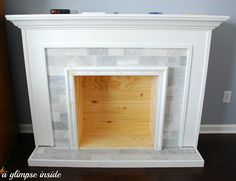 A Glimpse Inside: Faux Fireplace Makeover