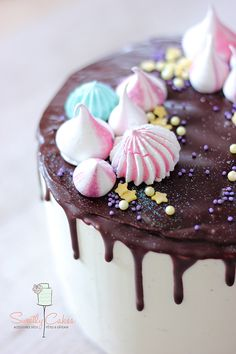 ... chocolate layer cake ...