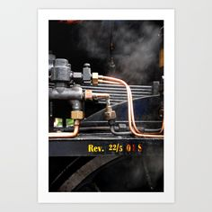 Steam train Art Print