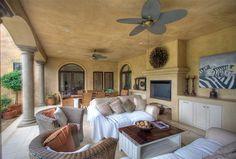 A fab stoep Built In Braai, Golf Estate, 5 Bedroom House, Porches, Outdoor Spaces, Outdoor Gardens, Interior Architecture, Nest, Garden Ideas