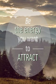 Daily Mindfulness: Be the energy you want to attract.