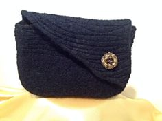 Hand knit, felted clutch purse by BAGSdeHAAG