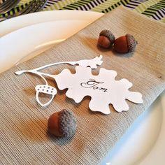 Free Papercutting Oak leaf & acorn template - by Cindy Bean