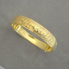 Personalized 14K Gold Name Baby Bangle Bracelet