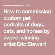 How to commission custom pet portraits of dogs, cats, and horses by award-winning artist Eric Stewart