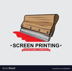 Logo screen printing squeegee design vector image on VectorStock Traditional Tattoo Vector, Crow Logo, Japanese Tiger Tattoo, Shirt Logo Design, Tiger Tattoo Design, Sacred Heart Tattoos, Polynesian Tattoo Designs, Screen Printing Shirts, Free Graphics