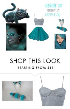 """CHESHIRE CAT COSTUME"" by xiloveunicornsx ❤ liked on Polyvore featuring Apiece Apart, halloweencostume and Halloween2015"