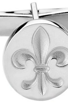 Fleur-de-Lis Cuff Links     Quality - Sterling Silver    CUFF LINKS     Finish - Polished     Series Description - METAL FASHION CUFF LINKS    Weight: 3.15 DWT ( 4.90 grams)     Matching Gents Ring:  ST-9763S      ST-84126S    http://www.thesgdex.com