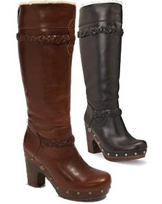Ugg-Savanna knee high-clog style boots