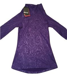 Women's Nike Pro Athletic Sweatshirt Side Zip Purple Size XS MSRP $65.00