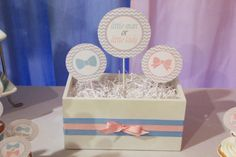 5M Creations: Gender Reveal Party - Little Man or Little Lady? Centerpiece