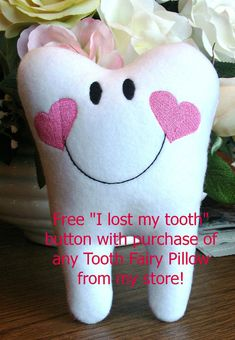 Personalized Tooth Fairy Pillow for Boys and by SANDRAINSTITCHES, $12.95