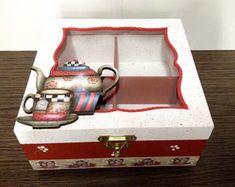 Cigar Box Crafts, Tea Box, Coffee Corner, Painting On Wood, Ideas Para, Diy And Crafts, Decorative Boxes, Scrap, House Design