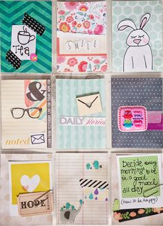 This week's incoming and outgoing Pocket Letter Swaps