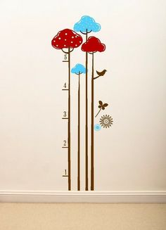 Wall decal growth chart from sayitwithstyle Etsy shop