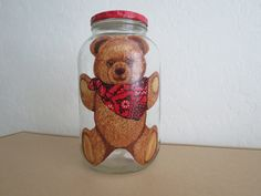 BEAR Recycled Jar Holder by KreationsGalore on Etsy