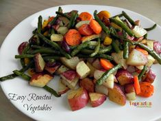 Easy Roasted Vegetables #glutenfree #vegan #recipes from @vegetarianmamma.com