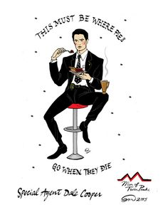 Special Agent Dale Cooper ~ RR Diner Twin Peaks Pin-up Art Print by Emma Munger