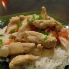 Thai Chicken Curry in Coconut Milk  http://www.yummly.com/recipe/Thai-Chicken-Curry-In-Coconut-Milk-Allrecipes?columns=4=359/360