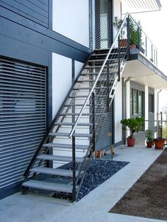 escaliers extrieurs design marches mtal ou bois - Exterior Stairs Designs