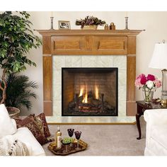 Hearth and Home Mantels Lewiston Flush Fireplace Mantel - 6133