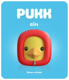 Pukk Down Jacket Goose McPukk was both warm and dapper in his ruby red down jacket. At the same time he felt uncomfortable wearing his cousin. But then again, old Quacky had always been a real douche. Rubber Duck, Ruby Red, Dapper, Felt, Warm, How To Wear, Jackets, Gifts, Down Jackets