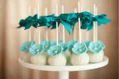Tiffany Blue Cake Pops