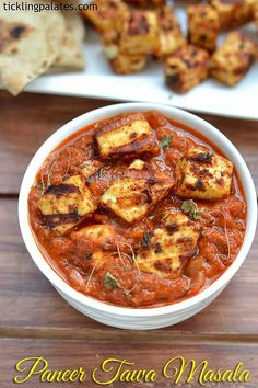 Paneer Tawa Masala recipe with step by step photos. A rich punjabi side dish with marinated and grilled paneer cubes served with rotis, naans and phulkas. Easy Paneer Recipes, Veg Recipes, Curry Recipes, Indian Food Recipes, Vegetarian Recipes, Cooking Recipes, Paneer Dishes, Veg Dishes, Grilled Paneer